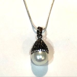 Special 2/$25 - Pearl and Marcasite Necklace